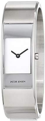 Jacob Jensen Strata Women's Quartz Watch with Black Dial Analogue Display Quartz Stainless Steel 32450