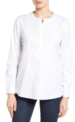 Women's Nydj Pintuck Bib Tunic Shirt $118 thestylecure.com