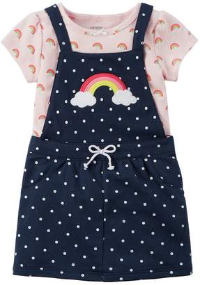 Carter's Baby Girl Rainbow Jumper & Bodysuit Set