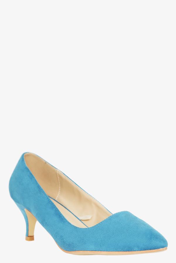 Torrid Blue Suede Kitten Heels (Medium Width)