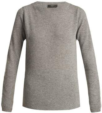 Max Mara Round Neck Virgin Wool Sweater - Womens - Grey