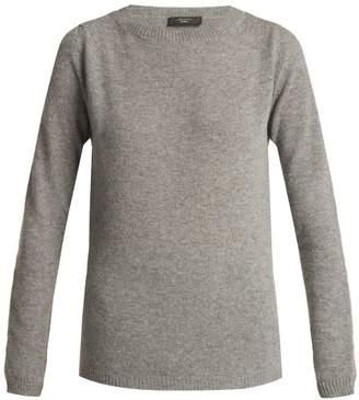 Weekend Max Mara - Round Neck Virgin Wool Sweater - Womens - Grey