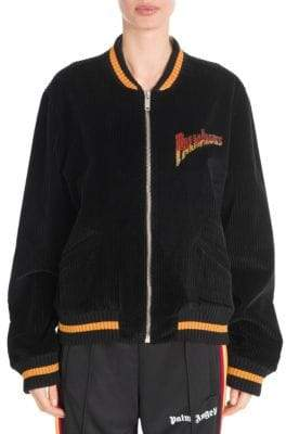 Palm Angels Velvet Souvenir Baseball Jacket