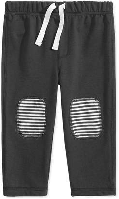 First Impressions Baby Boys Knee-Patch Jogger Pants