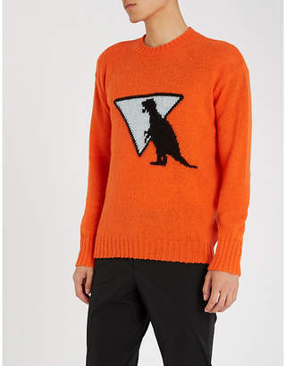 Prada Dinosaur-intarsia wool jumper