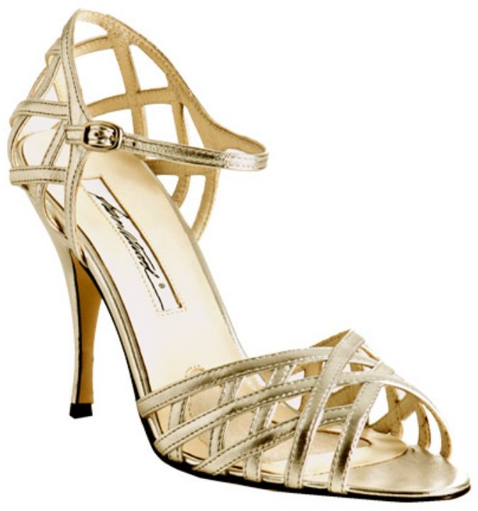 Brian Atwood gold nappa 'Katie' sandals