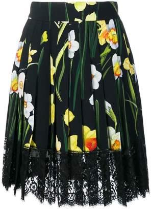 Dolce & Gabbana floral flared skirt