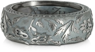Azhar Bassorilievo Silver and Zircon Men's Ring