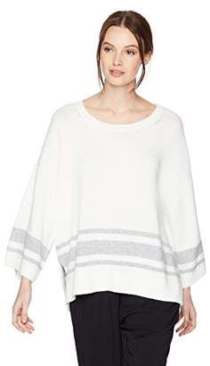 NYDJ Women's Kimono Sleeve Striped Sweater