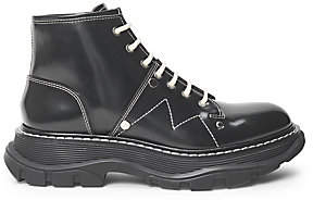 Alexander McQueen Women's Tread Lace-Up Leather Boots