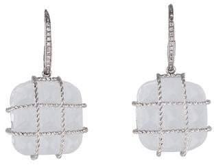Madstone 18K Diamond and Quartz Drop Earrings