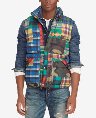 Polo Ralph Lauren Men Patchwork Water-Repellent Down Vest