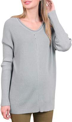 Sweet Mommy Organic Cotton Knit Pullover Sweater with Petit Dolman Sleeve PSM