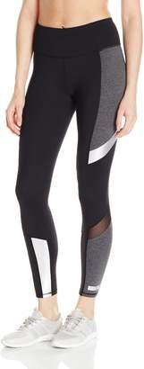 Betsey Johnson Women's Colorblock Metallic Insert Legging, Silver Combo, XS