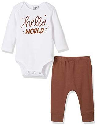 Silly Apples Pure Cotton Unisex Baby 2-Piece Long-Sleeve Bodysuit Onesies and Pant Outfit Set (12M)