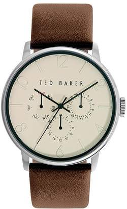 Ted Baker NIAFALS Round Leather Strap Watch