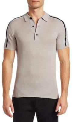 Saks Fifth Avenue MODERN Slim-Fit Pinstriped Polo