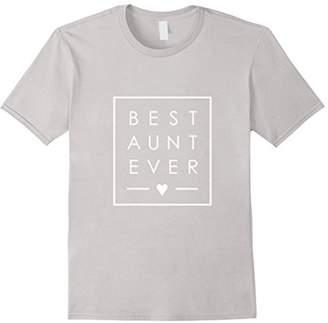 Best Aunt Ever tshirt - Auntie love minimalist square box