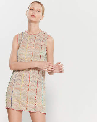 Missoni Ruffle Trim Sleeveless Mini Dress