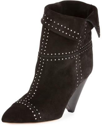 Isabel Marant Lizynn Cone-Heel Stud Booties