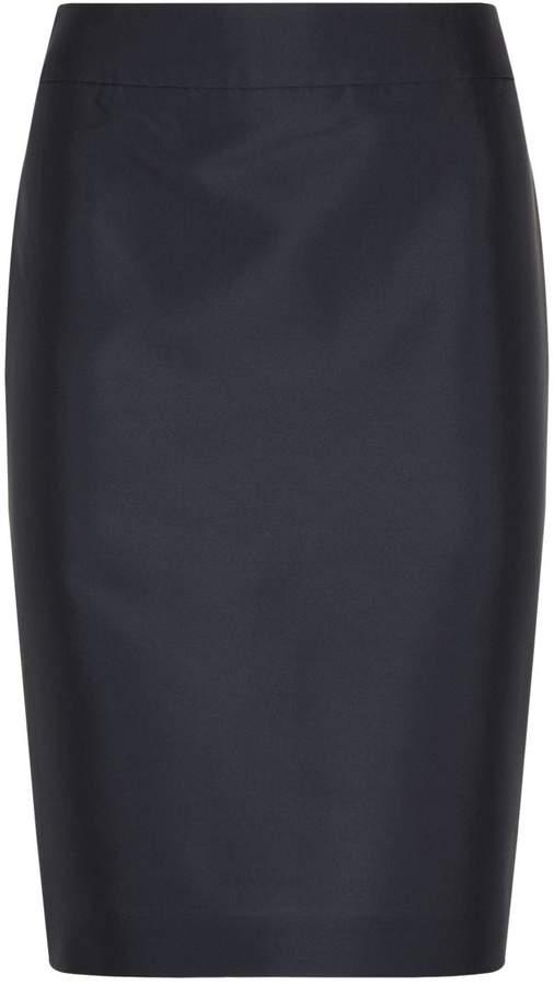 Armani Collezioni Short Silk Skirt, Grey, UK 12