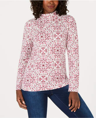 Karen Scott Petite Printed Top