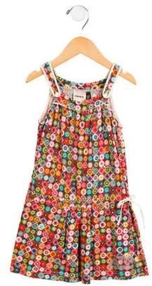 Ikks Girls' Abstract A-Line Dress