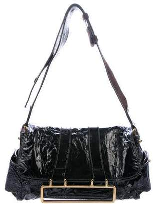Chloé Patent Leather Pocket Shoulder Bag