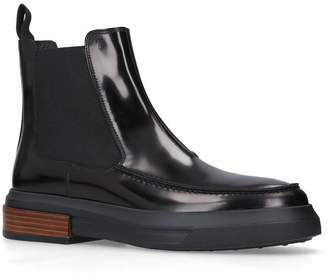 Tod's Leather Gomma Boots