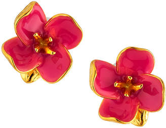 Kenneth Jay Lane Enamel Flower Stud Earrings