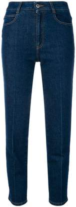 high-waisted slim jeans