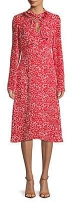 Derek Lam Bow Printed Silk Dress