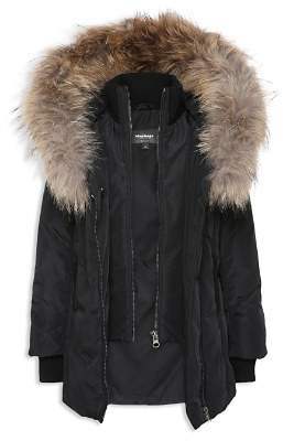 Mackage Girls' Fur-Trimmed Coat - Big Kid