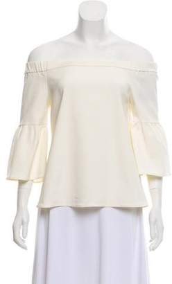 Tibi Off-the-Shoulder Bell Sleeve Blouse