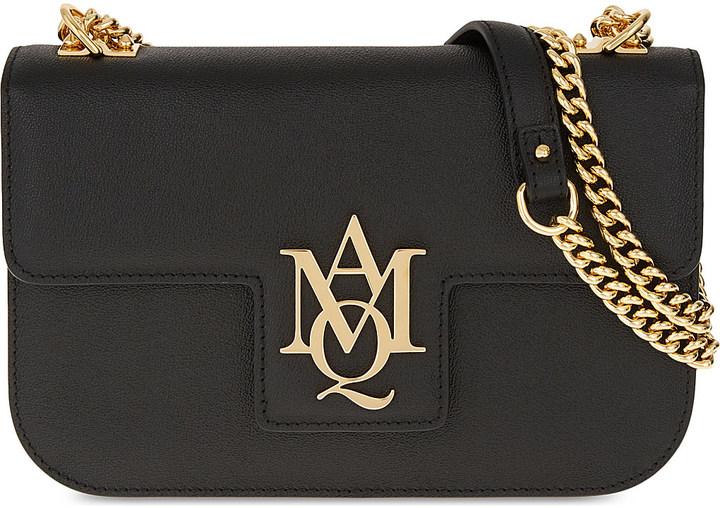 Alexander McQueenAlexander Mcqueen AMQ Insignia Chain Leather Satchel