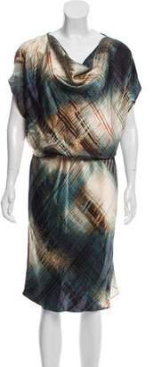 Josie Natori Short Sleeve Midi Dress