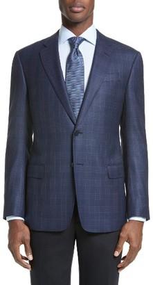 Men's Armani Collezioni Trim Fit Plaid Wool Sport Coat $1,495 thestylecure.com