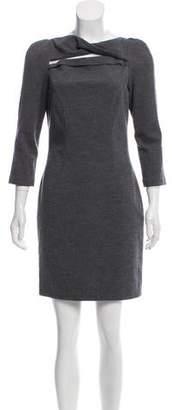 Diane von Furstenberg Structured Cutout Mini Dress
