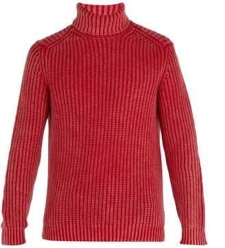 Iris von Arnim Newton stonewashed ribbed-knit cashmere sweater