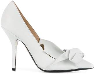 No.21 abstract bow stiletto pumps