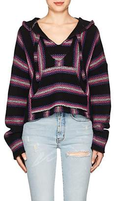 ADAPTATION Women's Striped Cashmere Crop Baja Hoodie