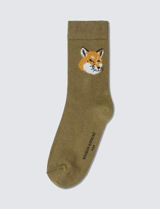 MAISON KITSUNÉ Fox Head Socks
