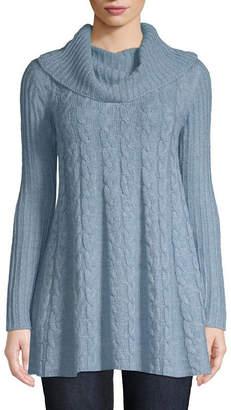 554cf9c34 ST. JOHN S BAY Womens Cowl Neck Long Sleeve Pullover Sweater