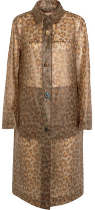 Leopard-print Rubberized Raincoat - Leopard print