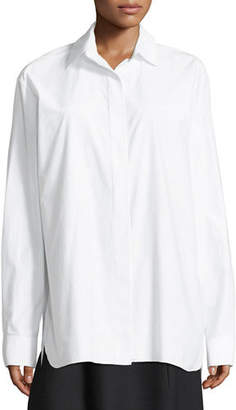 The Row Juliette Embroidered Sea Island Cotton Shirt