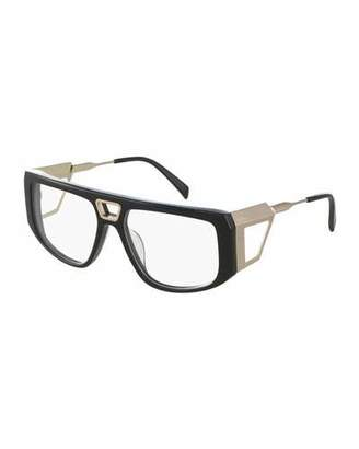 Balmain Two-Tone Wrap Optical Frames