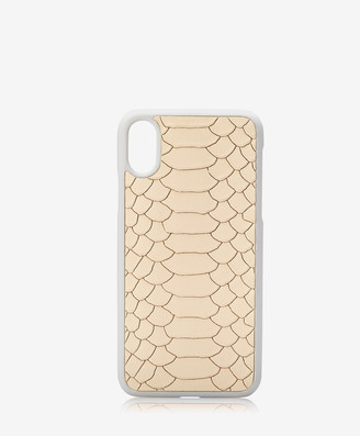 GiGi New York iPhone X Hard-Shell Case, Almond Embossed Python
