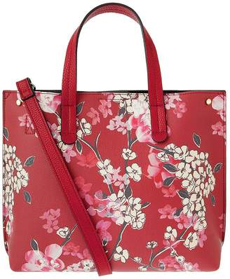Accessorize Printed Ella Handheld Bag - Red