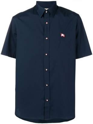 Burberry contrast button short-sleeved shirt