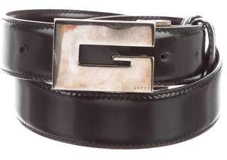Gucci Reversible Patent Leather Belt